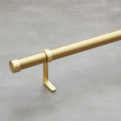 "Brushed Brass Curtain Rod Set 88""-108"" - CB2"