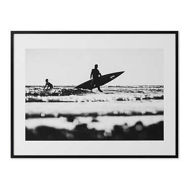 Surf In Black And White Wall Art by Minted(R), 16 x 20, Black - Pottery Barn Teen