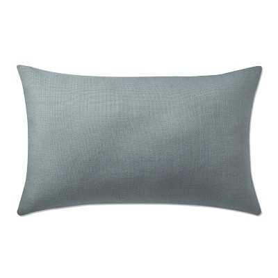 "Reversible Belgian Linen Lumbar Pillow Cover, 14"" X 22"", Slate/Dark Blue - Williams Sonoma"