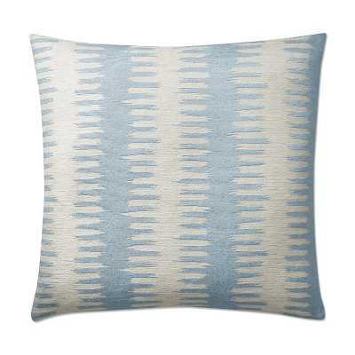 """Paloma Ikat Jacquard Pillow Cover, 20"""" X 20"""", Light Blue - Williams Sonoma"""