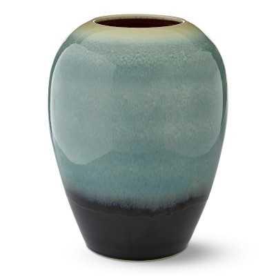 Teal Ombre Reactive Glaze Vase, Large, Jade - Williams Sonoma