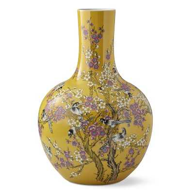 Yellow Hummingbird Ginger Jar Gourd Vase - Williams Sonoma