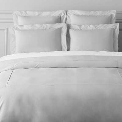 Signature Percale Organic 400TC Bedding, Sham, Euro, Gray - Williams Sonoma