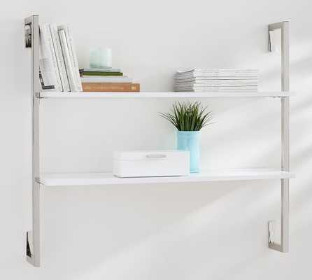 OLIVIA WALL MOUNTED SHELVES - 2 TIER / Nickle finish - Pottery Barn