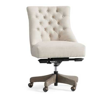 HAYES TUFTED SWIVEL DESK CHAIR - Pottery Barn