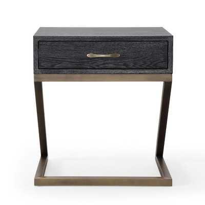 Mason Black Side Table - Home Depot