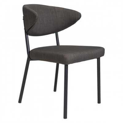 Pontus Dining Chair Charcoal Gray, Set of 2 - Zuri Studios