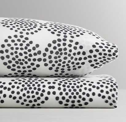 MALI PRINT ULTRA-FINE ORGANIC COTTON CLUSTERED DOTS CRIB FITTED SHEET - RH Baby & Child
