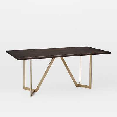 Tower Dining Table - Dark Mineral - West Elm