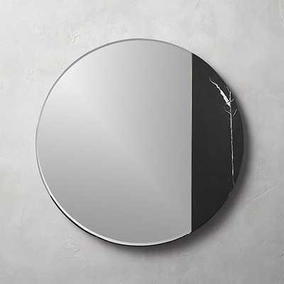 """Vaughn Black Marble Mirror 32"""""" - CB2"