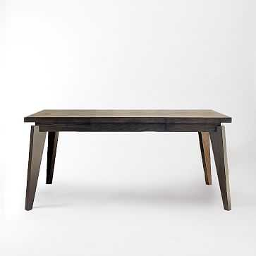 """Angled-Leg Expandable Table with Drop Leaf, 42""""-66""""-90"""", Chocolate - West Elm"""