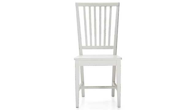 Village White Wood Dining Chair - Crate and Barrel