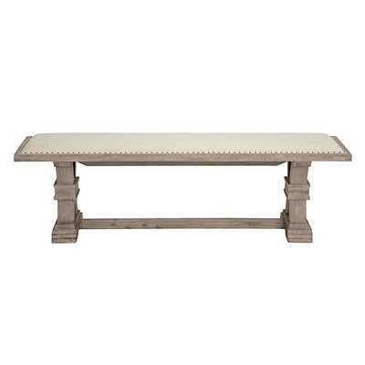 Archer Natural Grey Wood Bench - Z Gallerie