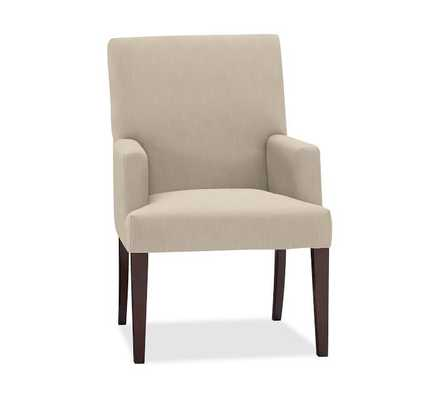 PB COMFORT SQUARE UPHOLSTERED DINING ARMCHAIR - Pottery Barn