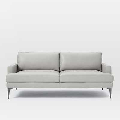 "Andes Leather Sofa (76.5"") - West Elm"