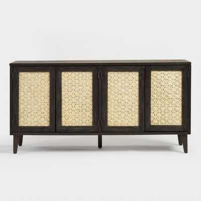 Wood And Rattan Dianey Storage Cabinet - World Market/Cost Plus