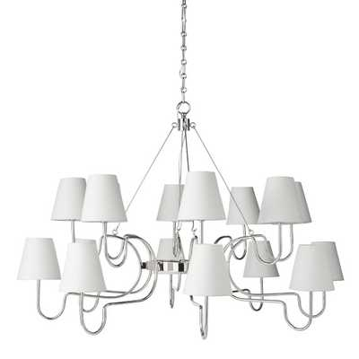Lucio Chandelier, Large, Polished Nickel - Williams Sonoma