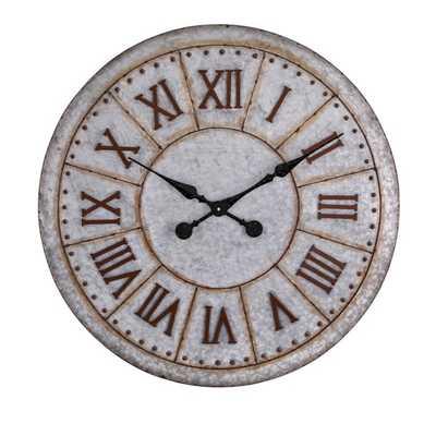 Gilbert Galvanized Clock - Mercer Collection