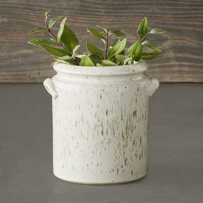 Speckled Ivory Earthenware Vase - Williams Sonoma
