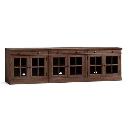 LIVINGSTON LARGE TV STAND, Brown Wash - Pottery Barn