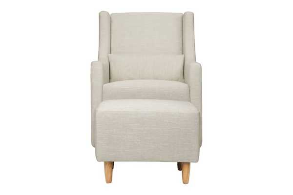 TOCO SWIVEL GLIDER AND STATIONARY OTTOMAN - Babyletto