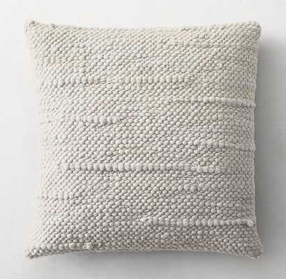 TEXTURED MERINO WOOL ABSTRACT PILLOW COVER - SQUARE - RH