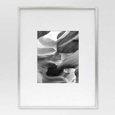 Metal Single Image Matted Frame 8x10 - Brushed Silver - Project 62 - Target