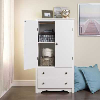Monterey White Armoire - Home Depot