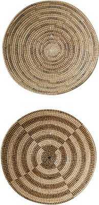 2 Piece Havana Seagrass Basket Wall Decor Set - Wayfair