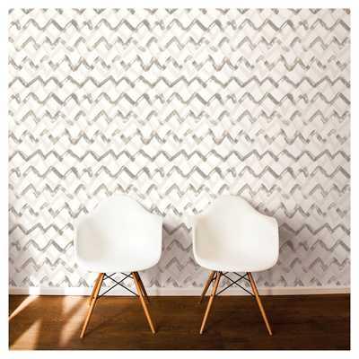 Devine Color Painted Chevron Peel & Stick Wallpaper - Mirage - Target