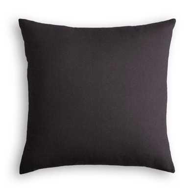 "Throw Pillow  Classic Velvet - Charcoal - 18""x18"", Poly insert - Loom Decor"