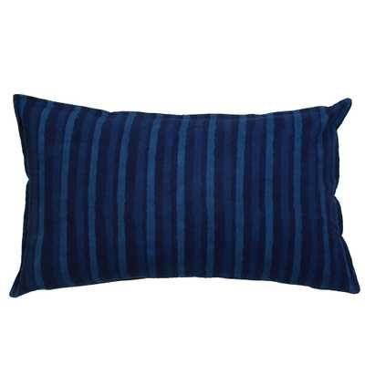 INDIGO STRIPES PILLOW - Pom Pom at Home