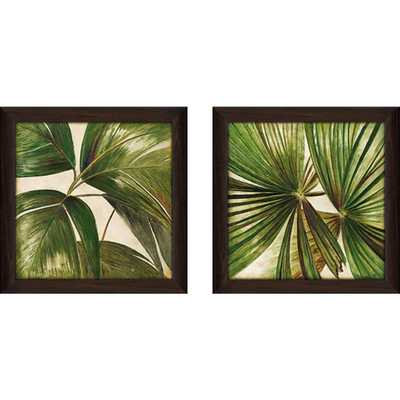 """""""Through the Leaves"""" Wall Art Set of 2, Matching Set - Overstock"""