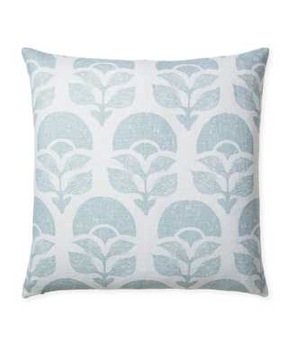 """Larkspur 24"""" Printed Pillow Cover, Sky - Serena and Lily"""