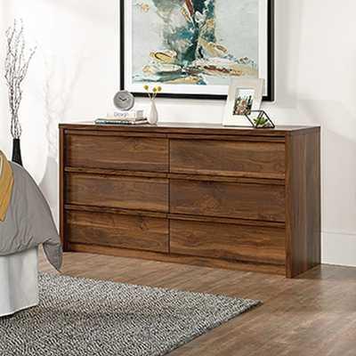 Harvey Park 6-Drawer Grand Walnut Dresser - Home Depot