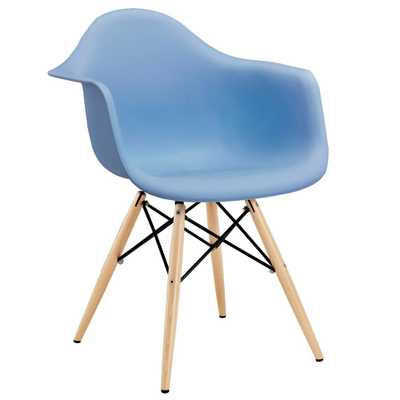 Pyramid Blue Dining Arm Chair - Home Depot