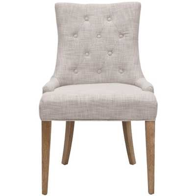 Becca Grey Polyester Blend Dining Chair, Gray/White Wash - Home Depot