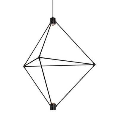 LBL Lighting Candora 2-Light Black LED Chandelier - Home Depot