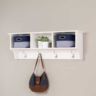 Monterey Wall-Mounted Coat Rack in White - Home Depot