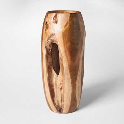 Teak Wood Vase Tall- Brown - Threshold - Target