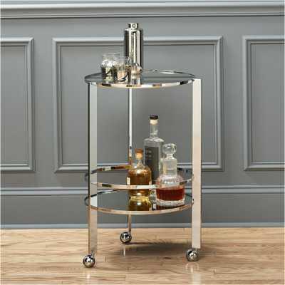 Ernest chrome bar cart - CB2