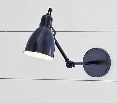 Library Wall Sconce, Black - Pottery Barn Kids