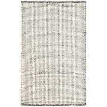 NETWORK BLACK WOVEN WOOL RUG - Dash and Albert
