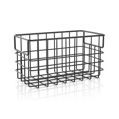 Small Black Wire Basket - Crate and Barrel
