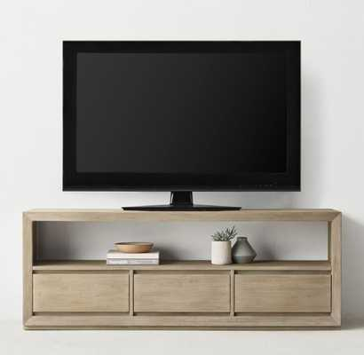 "CALLUM WIDE MEDIA CONSOLE - Sandwashed Grey, 25""H - RH Teen"
