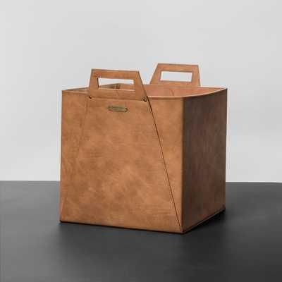Faux Leather Storage Bin - Target