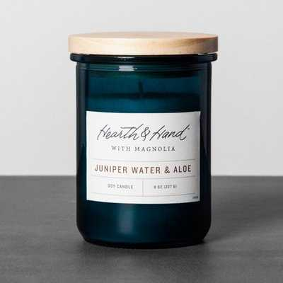 Lidded Jar Candle - Juniper Water & Aloe - Target