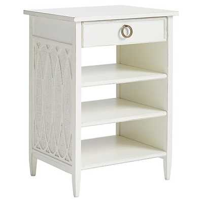 Balustrade Nightstand, White - One Kings Lane