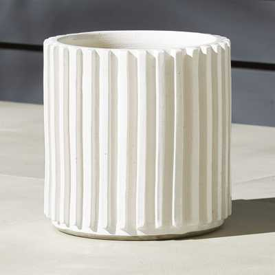 """Lineal Large Planter-12"""" dia - CB2"""