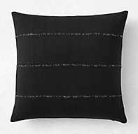 "SUNBRELLA® AFRICAN MUD CLOTH SOLID SQUARE PILLOW COVER - 20"" SQ. - RH"